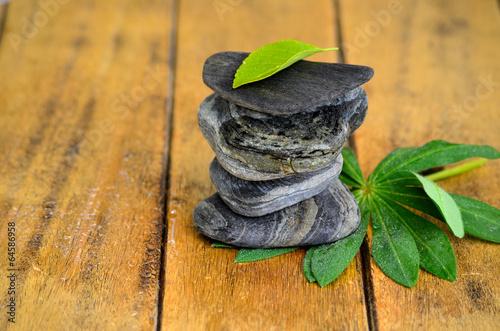 Photo sur Plexiglas Zen pierres a sable Blatt Wellness Steine Balance