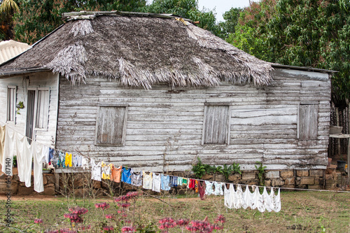 Fotografie, Obraz  Typical wooden house in countryside, Cuba