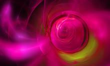 Pink Fractal Abstract Illustration Fantasy Background
