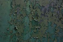 Green Peeling Paint Texture Ba...