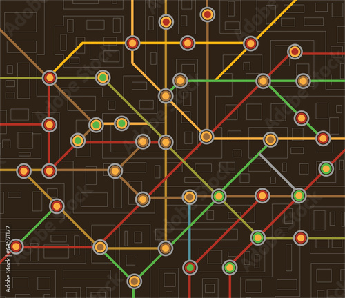 subway map Canvas-taulu