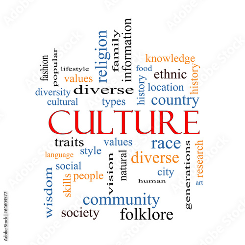 Fotografie, Obraz  Culture Word Cloud Concept