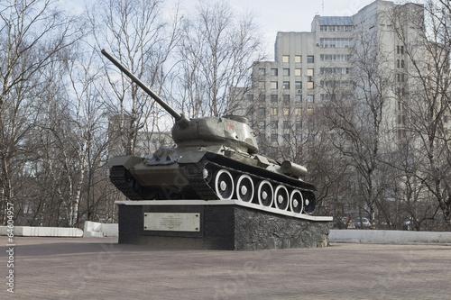 Fotografie, Obraz  Памятник - Танк Т-34 в городе Вологда, Россия