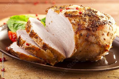 Fotografie, Obraz  Marinated roast ham