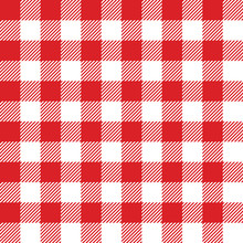 Seamless Checked Red And White...