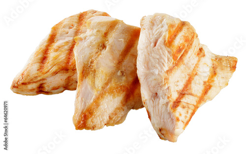 Fotografía  Slices of roasted turkish breast.