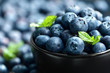 Leinwandbild Motiv Blueberry