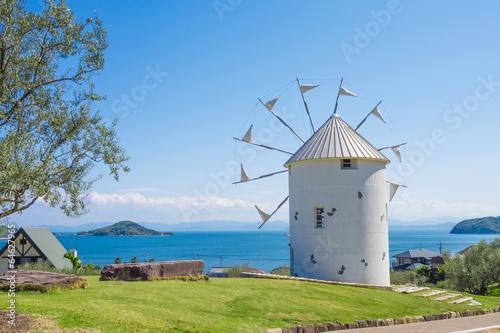 Papiers peints Oliviers 小豆島オリーブ公園 ギリシャ風車