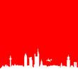 Frankfurt Skyline rot