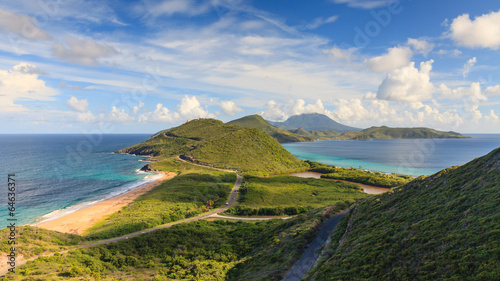 Printed kitchen splashbacks Coast St Kitts Panorama