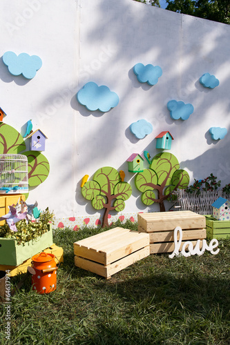 Photo sur Toile Vin small trees for children