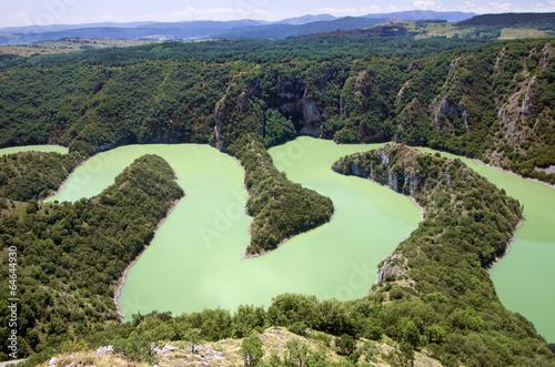 Foto op Aluminium Rivier Canyon Uvac River, Serbia