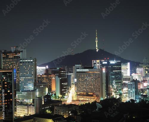 Fotobehang Seoel 서울 풍경