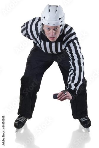 Fotografie, Tablou  Hockey referee on face off position