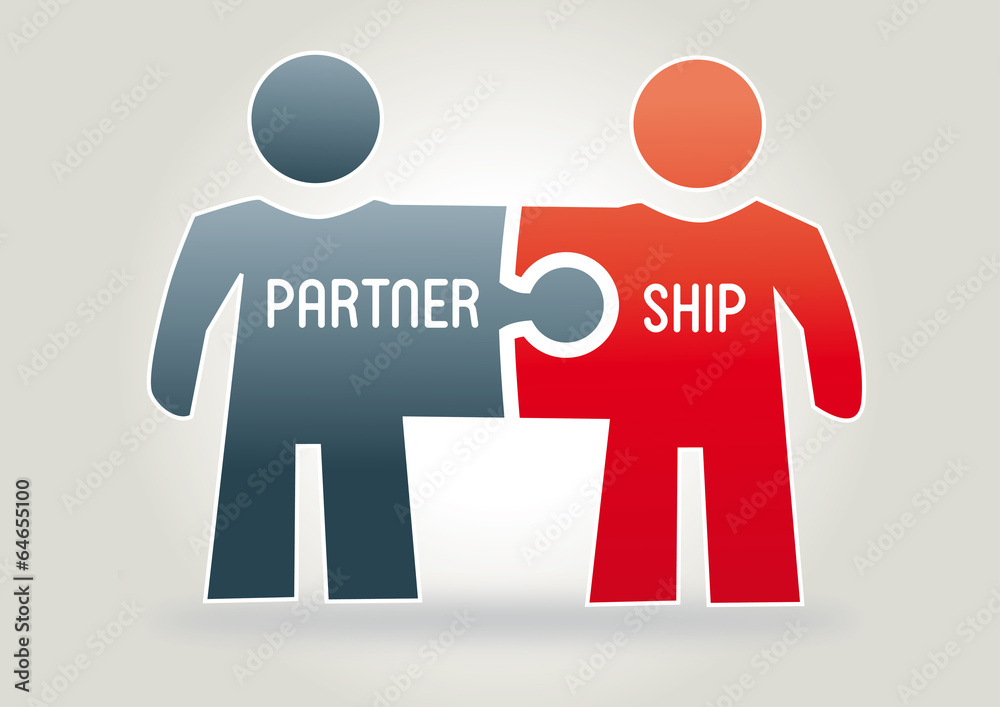Fototapeta Partnership, Concept