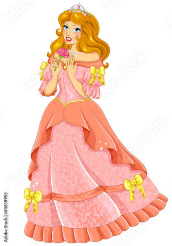 beautiful princess in pink dress