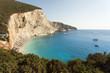 Beautiful Porto Katsiki beach panorama, one of the most famous b