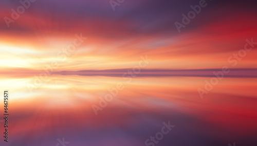 Photo Reflection of colorful sunset clouds with long exposure effect