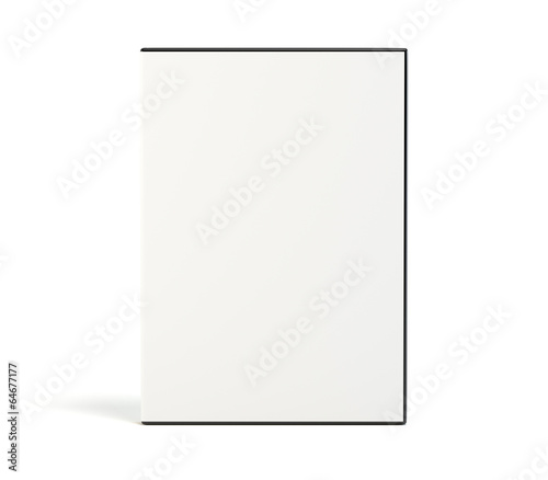 Pinturas sobre lienzo  Blank DVD case isolated on white background