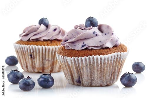 Photo  blueberry cupcakes