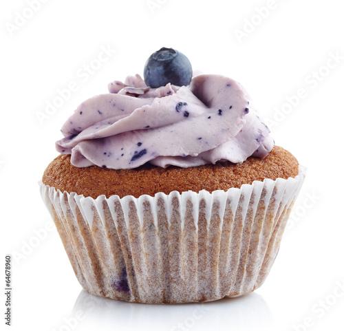 Fotografie, Obraz  blueberry cupcake
