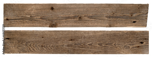 Tableau sur Toile Old wooden boards isolated on white background