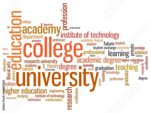 Higher education - informative word cloud illustration - Buy