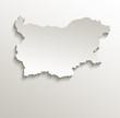 Bulgaria map card paper 3D natural