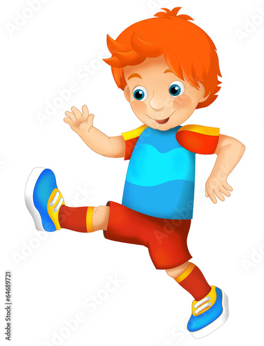 Tuinposter Vlinders Cartoon character - isolated - training sport - illustration for children