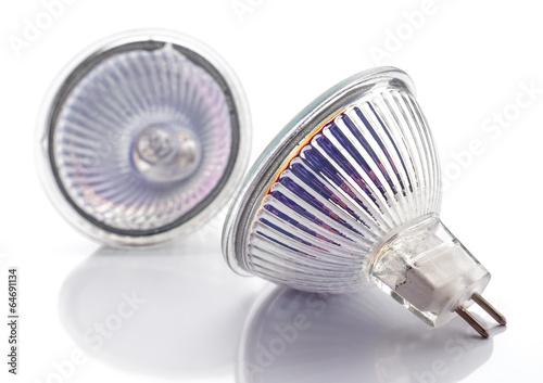 Obraz dichroic halogen type bulb lamps isolated on white - fototapety do salonu
