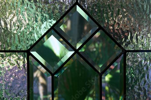Valokuva  close up of beveled and textured glass