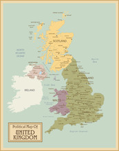 United Kingdom -highly Detailed Map.Layers Used.