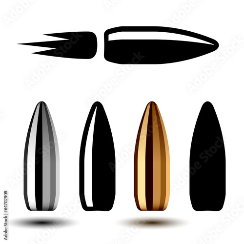 Stampa su Tela vector drawing weapon gun bullets