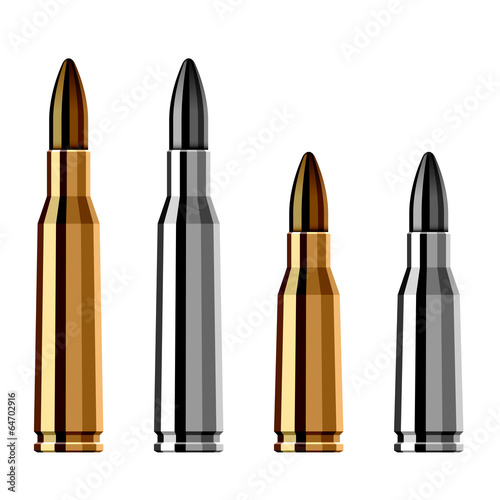 Fotografia vector weapon gun bullet cartridge