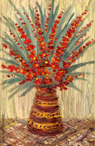 olej-z-martwej-natury-bukiet-z-galazek-jaskrawoczerwonych-kwiatow