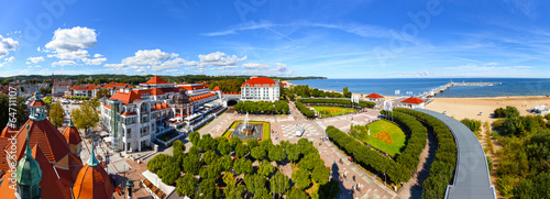 Aerial view of the beautiful architecture of Sopot, Poland. © Nightman1965