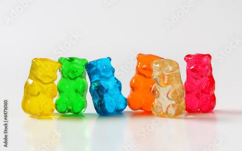 fototapeta na lodówkę Gummy niedźwiedzie