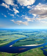 fototapeta lato spokojny dzień nad rzeką