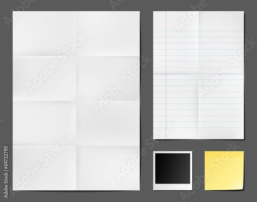 Fotografie, Obraz  Supports papier vectoriels 1