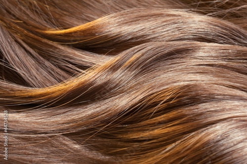 Staande foto Kapsalon Beautiful healthy shiny hair texture with highlighted streaks