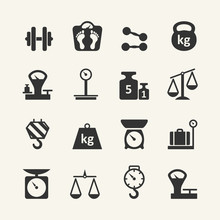 Web Icon Set - Scales, Weighin...