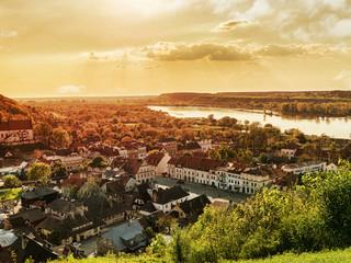 Fototapeta Rzeka i Jezioro Panorama of Kazimierz Dolny