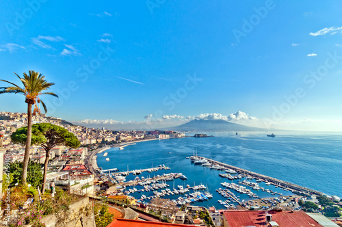 Spoed Foto op Canvas Napels view of Naples from Posillipo hill