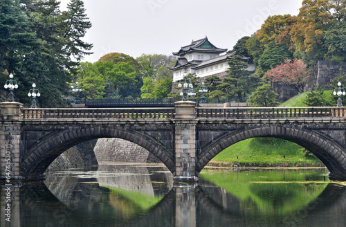 Photo  Tokyo Imperial Palace and Nijubashi bridge, Japan
