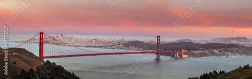 Photo  Golden Gate Bridge and downtown San Francisco