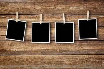 Fototapeta Polaroid auf Holz