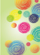 Circular colorful background