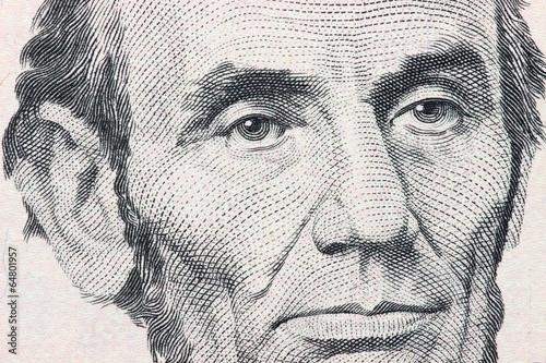 Fotografia  Porträt auf der 5 US Dollar Banknote
