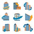 Urban Buildings Icons