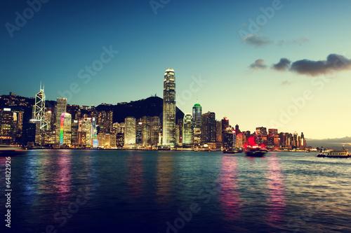 Plakat Skyline z Hongkongu